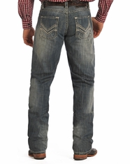 Rock & Roll Cowboy Men's Tuf Cooper Competition Fit Straight Leg Jeans-Medium Wash