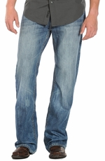 Rock & Roll Cowboy Men's Cannon Loose Fit Boot Cut Jeans - Medium Wash