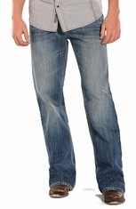 Rock & Roll Cowboy Mens Cannon Loose Fit Straight Leg Jeans (Closeout)