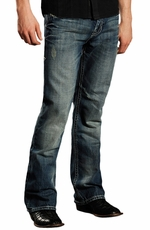 Rock & Roll Cowboy Mens Double Barrel Relaxed Fit Boot Cut Jeans (Closeout)