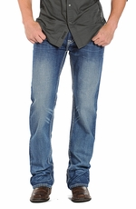 Rock & Roll Cowboy Mens Double Barrel Relaxed Fit Straight Leg Jeans