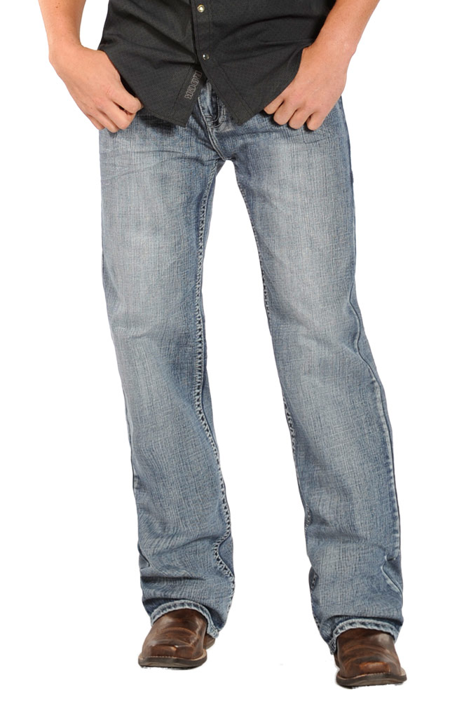 Rock & Roll Cowboy Mens Double Barrel Relaxed Fit Straight Leg Jeans (Closeout)
