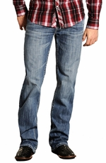 "Rock & Roll Cowboy Mens Double Barrel Relaxed Fit Double ""V"" Jeans"