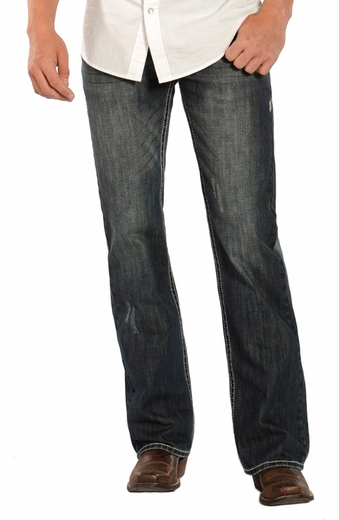 Rock & Roll Cowboy Mens Pistol Slim Fit Boot Cut Jeans (Closeout)