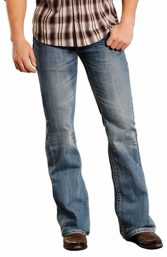 Rock & Roll Cowboy Pistol Slim Fit Jeans - Medium Wash