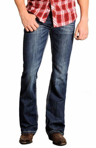 Rock & Roll Cowboy Pistol Slim Fit Jeans with Raised