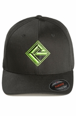 Rock & Roll Cowboy Mens Logo Cap - Green/Black (Closeout)