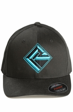 Rock & Roll Cowboy Mens Logo Cap - Blue/Black (Closeout)