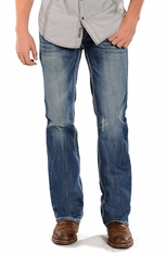 Rock & Roll Cowboy Mens Pistol Regular Fit Straight Leg Jeans (Closeout)
