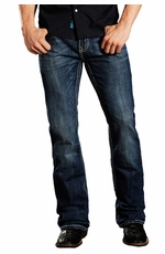 Rock & Roll Cowboy Mens Pistol Slim Fit Raised V Jeans - Dark Wash