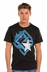 Rock & Roll Cowboy Mens Short Sleeve Logo Shirt - Black (Closeout)