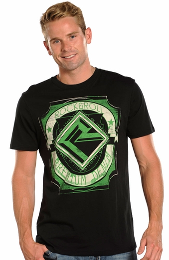 Rock & Roll Cowboy Mens Logo Tee Shirt - Black