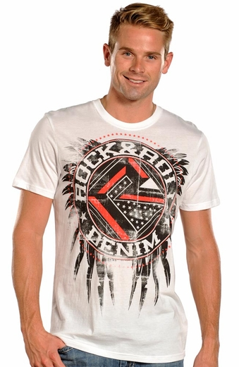 Rock & Roll Cowboy Logo Tee Shirt - White