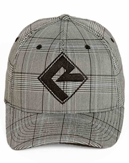 Rock & Roll Cowboy Plaid Flexfit Logo Cap - Grey