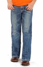 Rock & Roll Cowboy Boys BB Gun Regular Fit Boot Cut Jeans - Medium Wash