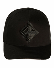 Rock & Roll Cowboy Solid Flexfit Logo Cap - Black