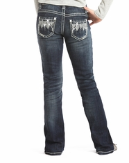 Rock & Roll Cowgirl Girl's Low Rise Bootcut Jean-Dark Vintage (Closeout)