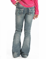 Rock & Roll Cowgirl Girl's Low Rise Bootcut Jean-Light Vintage (Closeout)