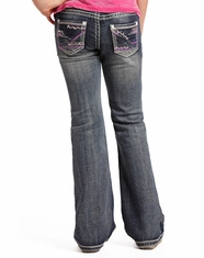 Rock & Roll Cowgirl Girl's Low Rise Slim Fit Bootcut Jeans - Medium Vintage