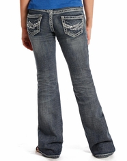 Rock & Roll Cowgirl Girl's Low Rise Slim Fit Boot Cut Jean - Medium Vintage