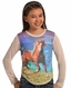 Rock & Roll Cowgirl Girl's Wild and Free Tee Shirt - Turquoise (Closeout)