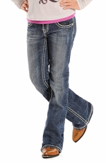 Rock & Roll Cowgirl Girls Boot Cut Jeans (Closeout)