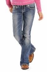 Rock & Roll Cowgirl Girls Boot Cut Jeans