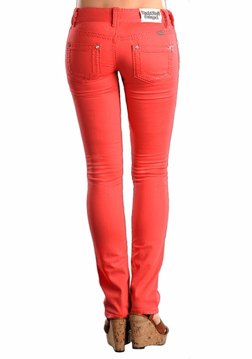 Rock & Roll Cowgirl Junior Low Rise Skinny Jeans - Melon
