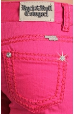Rock & Roll Cowgirl Low Rise Colored Skinny Jeans - Hot Pink (Closeout)