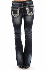 Rock & Roll Cowgirl Rival Low Rise Boot Cut Jeans (Closeout)
