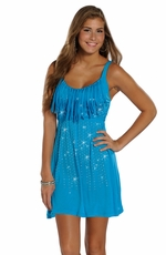 Rock & Roll Cowgirl Strap Dress with Fringe & Rhinestones (Closeout)
