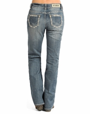 Rock & Roll Cowgirl Women's Boyfriend Fit Boot Cut Jeans - Light Vintage