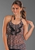 Rock & Roll Cowgirl Women's Leopard Print Racer Back Top - Brown (Closeout)