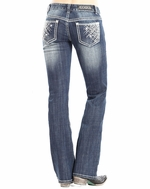 Rock & Roll Cowgirl Women's Low Rise Boot Cut Jeans - Medium Vintage (Closeout)