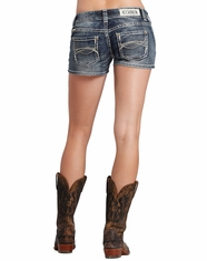 Rock & Roll Cowgirl Women's Low Rise Shorts-Medium Vintage (Closeout)
