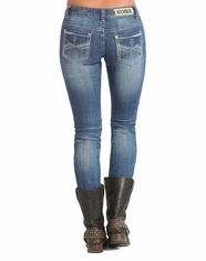 Rock & Roll Cowgirl Women's Low Rise Skinny Jean-Medium Vintage