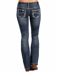 Rock & Roll Cowgirl Women's Low Rise Slim Fit Boot Cut Jeans - Medium Vintage