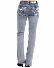 Rock & Roll Cowgirl Women's Mid Rise Boot Cut Jeans - Light Vintage (Closeout)