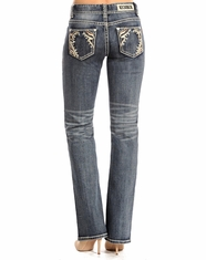 Rock & Roll Cowgirl Women's Mid Rise Boot Cut Jeans - Light Vintage