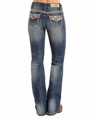 Rock & Roll Cowgirl Women's Mid Rise Boot Cut Jeans - Medium Vintage