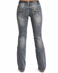Rock & Roll Cowgirl Women's Mid Rise Bootcut Jean-LightVintage