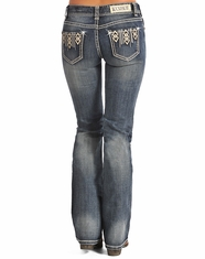 Rock & Roll Cowgirl Women's Mid Rise Bootcut Jean-Medium Vintage (Closeout)