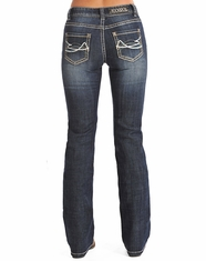 Rock & Roll Cowgirl Women's Mid Rise Bootcut Jean-Medium Vintage