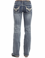 Rock & Roll Cowgirl Women's Riding Boot Cut Jeans - Medium Vintage (Closeout)
