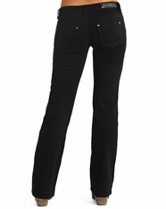 Rock & Roll Cowgirl Women's Riding Fit Low Rise Bootcut Jean-Black