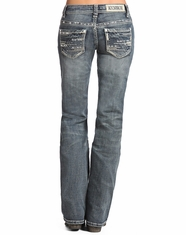 Rock & Roll Cowgirl Women's Riding Fit Low Rise Bootcut Jean-Medium Vintage (Closeout)