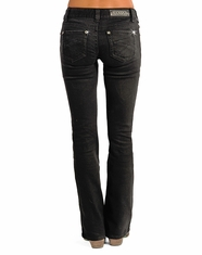 Rock & Roll Cowgirl Women's Rival Low Rise Boot Cut Jeans - Black