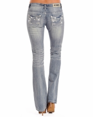 Rock & Roll Cowgirl Women's Rival Low Rise Boot Cut Jeans - Light Vintage (Closeout)