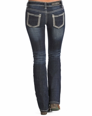 Rock & Roll Cowgirl Women's Rival Low Rise Bootcut Jean-Dark Vintage