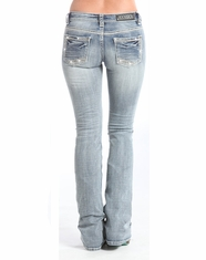 Rock & Roll Cowgirl Women's Rival Low Rise Bootcut Jean-Light Wash